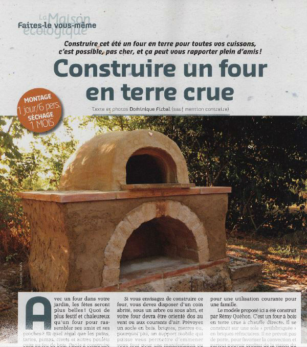 Construire un four en terre crue dominique firbal - Construire une maison en terre ...